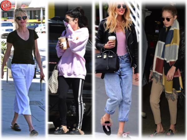 nuovo stile vendita economica consegna veloce Chiara Ferragni e Gigi Hadid cercano il pelo... nelle pantofole ...