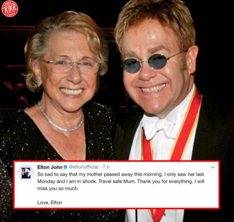 Il Commovente Messaggio Di Elton John Per La Morte Della Mamma