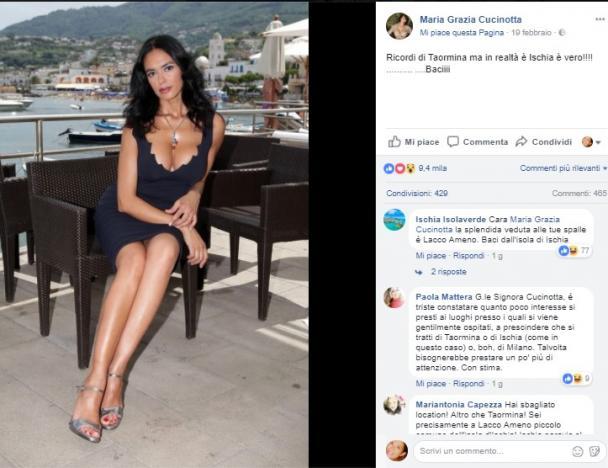 Maria Grazia Cucinotta Calendario.La Cucinotta Manda In Tilt La Rete Ecco La Gaffe Che Ha