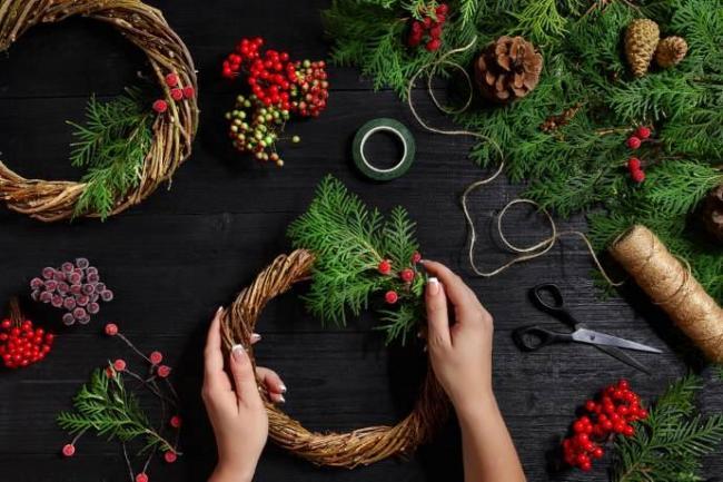 Decorazioni Albero Di Natale Blu : Decorazioni di natale con frutta piante spontanee e erbe